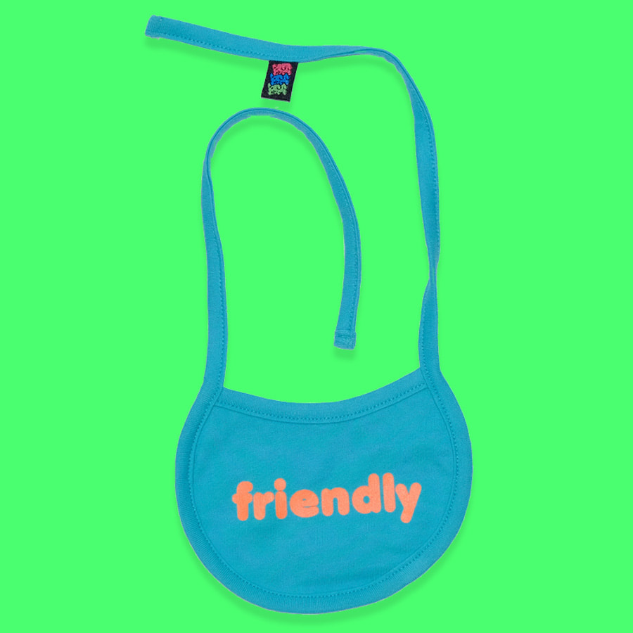 Friendly mood bib