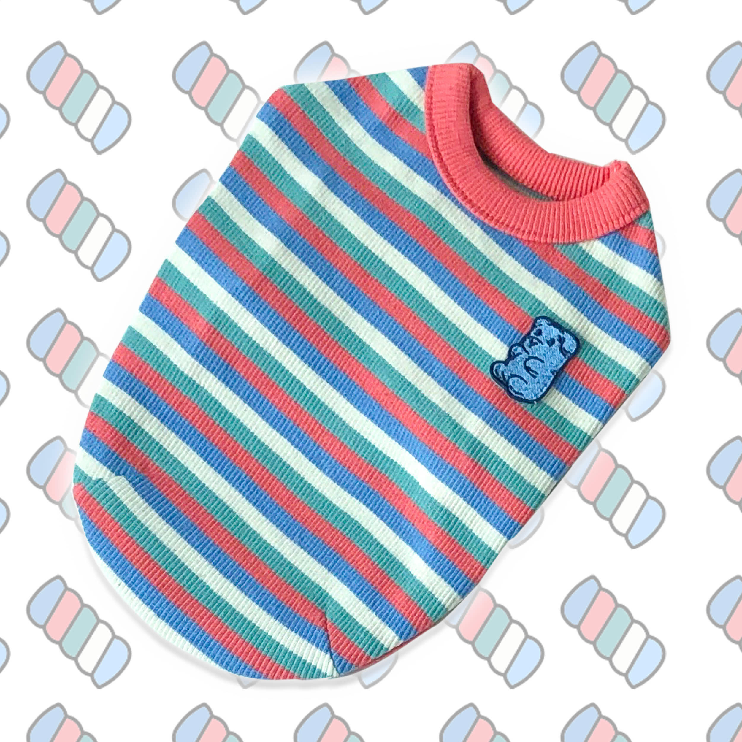 Marshmallow Stripe Top [Red]